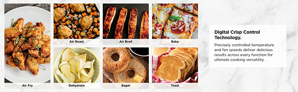 SP101, Ninja, Foodi, Digital, Air, Fry, Oven, Toaster Oven, crisp control