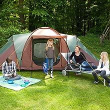 Tente de camping familiale
