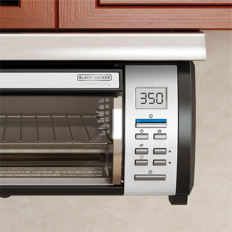 Kitchen Cabinet Installation: BLACK+DECKER Spacemaker Under-Counter Toaster Oven, Black/Stainless Steel, TROS1000D: Amazon.ca