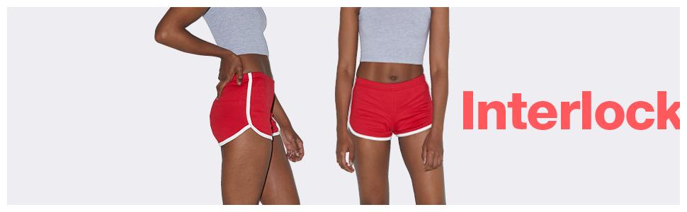 NEW American Apparel Women/'s Interlock Running Active Shorts Size Medium