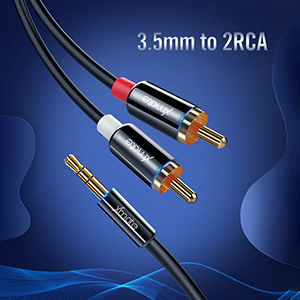 Xmate 3.5mm to 2 Male RCA Cable