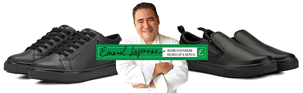 Emeril Lagasse Slip Resistant, Water Resistant, Odor Resistant Work and Restaurant Shoes