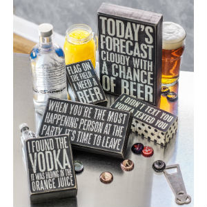 funny drinking signs beer vodka alcohol gift decor funny saying primitives by kathy towel