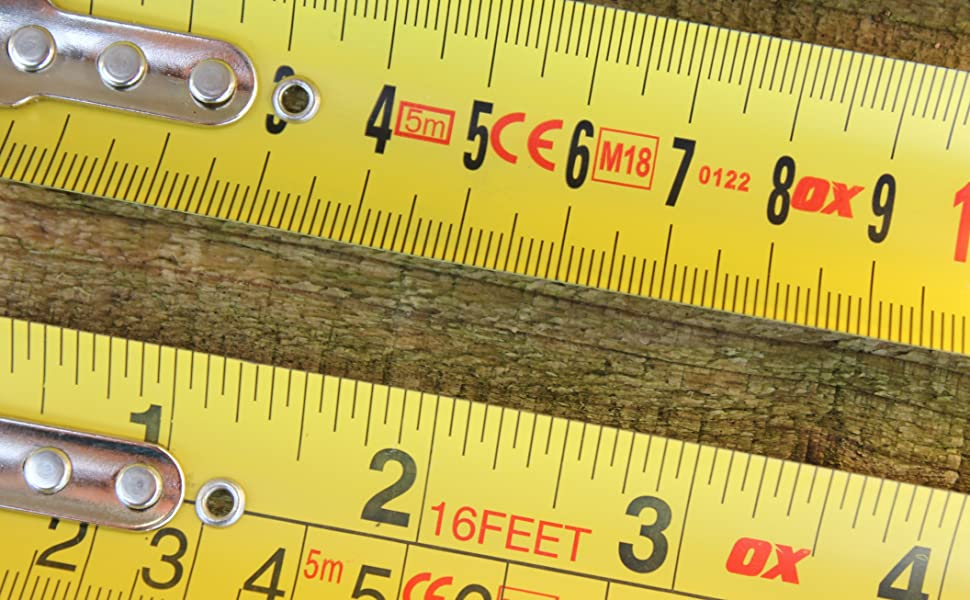 Professional 5m Metric//Imperial Tape Measure Heavy Duty OX Tools P028705