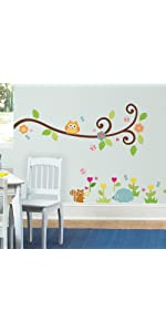 floral peel and stick wall decals, peel and stick wall decals