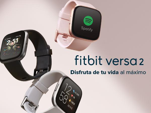 Fitbit Versa 2 - Smartwatch de salud y forma física, Rosa pétalo ...
