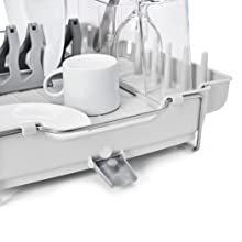 Oxo Good Grips Foldaway Dish Rack Grey Amazon Co Uk