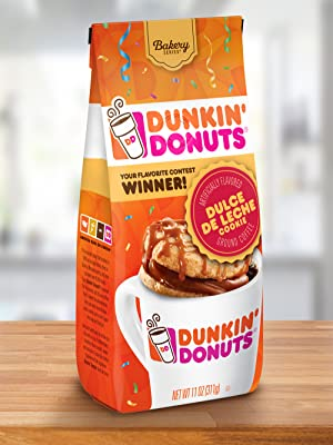 Bag of Dunkin Donuts Bakery Series Dulce De Leche Cookie Ground coffee 100% Arabica beans