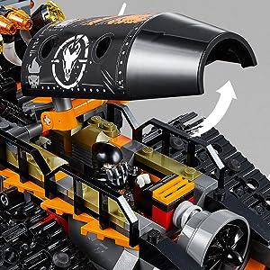lego, ninjago, turbo, cingolato
