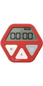 タニタ タイマー 薄型 レッド TD-410 RD ガラスにつくタイマー