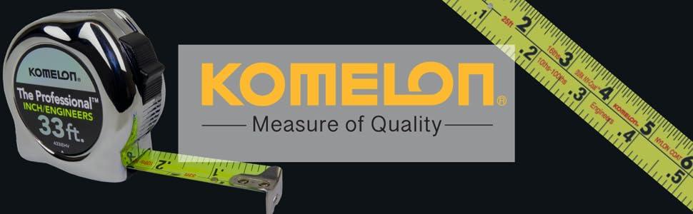 Komelon, tape measures, inch engineer, engineer scale, tape, measure, chrome, komelon tape measure