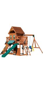 Winchester, PB 8210, swing set with slide, swing set for kids, wooden swing set