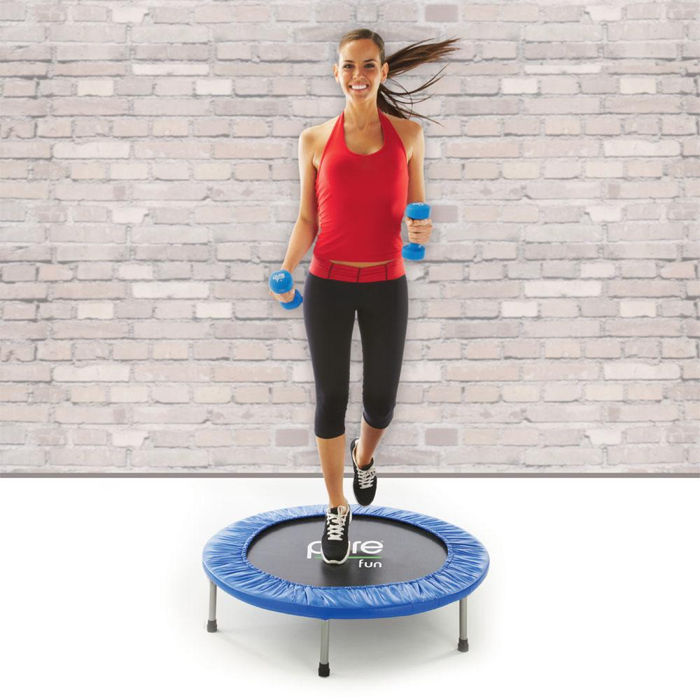 "Pure Fun 38"" Mini Rebounder Trampoline, Ages 13+, Fitness"