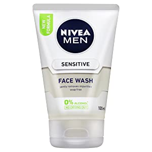 NIVEA, Nivea men, men, face, sensitive, sensitive skin, shower, scrub, face wash, exfoliant, soap