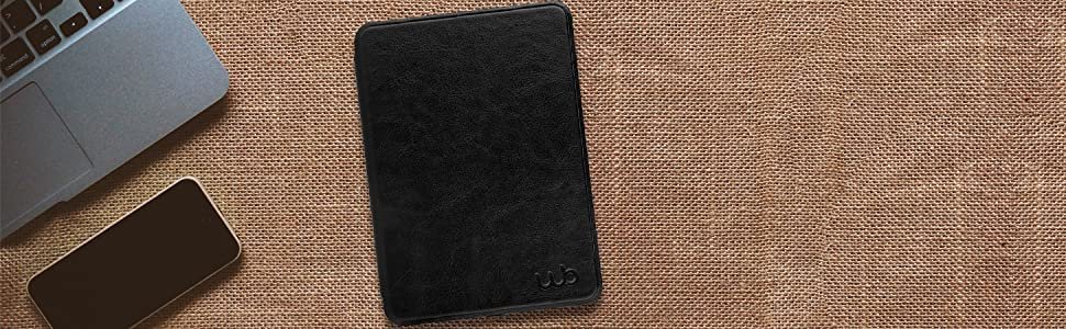 Capa Novo Kindle 10a. Geração WB - Couro Premium Preta