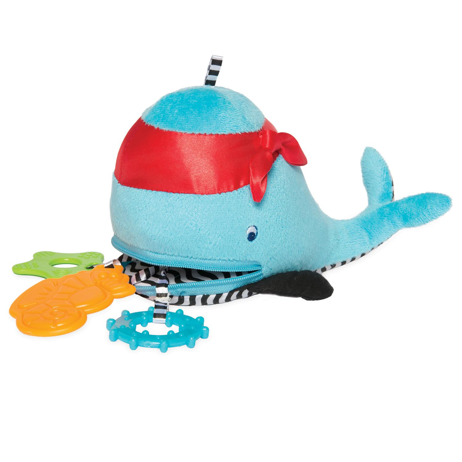 Amazon Manhattan Toy Winnie Whale Zip & Play Teether Toys