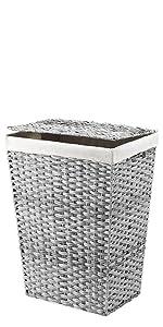 Split Rattique Laundry Hamper - Gray Wash