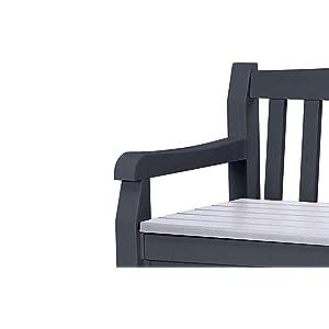 keter gartenbank und kissenbox eden graphit 265l. Black Bedroom Furniture Sets. Home Design Ideas