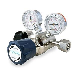 0.06 CV Gauges 1//4 NPTF 0-125 PSIG Out Plated Brass Body 1//4 NPTF SST Diaphragm 6 Port TESCOM SG2P4100-00AP0 SG2 Two-Stage Pressure Regulator