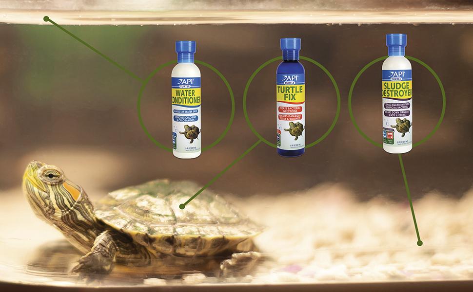 API turtle products water conditioner sludge destroyer turtle fix