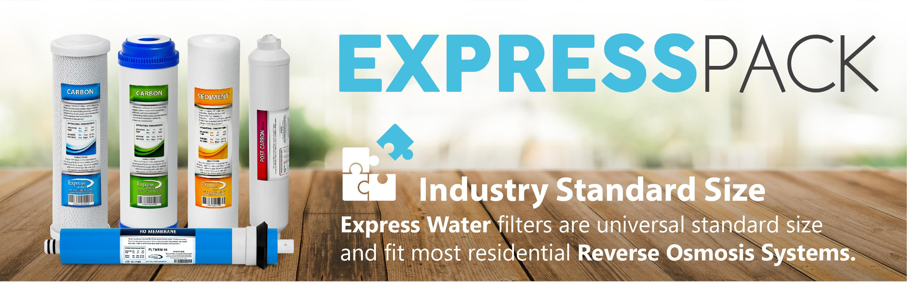 express pack industry standard size water filters reverse osmosis systems set kit full ro 50 gpd - Reverse Osmosis Water Filter