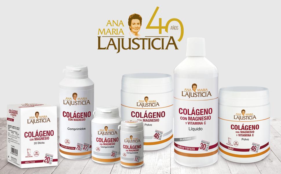 Ana Maria Lajusticia - Colágeno con magnesio – 450 comprimidos articulaciones fuertes y piel tersa. Regenerador de tejidos con colageno hidrolizado tipo 1 y tipo 2. Envase para 75 días de tratamiento.: