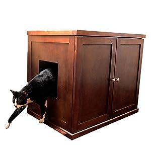 wood litter box cabinet