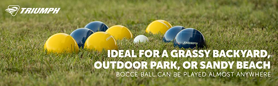 Amazon.com: Triumph All Pro 100 mm Bocce Set: Sports & Outdoors