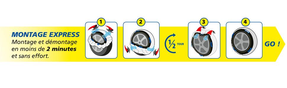 Michelin SOS Grip 6 Chaussettes /à Neige Textiles 008406