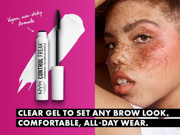 nyx control freak brow gel eyebrow gel clear brow gel brow setter eyebrow setter