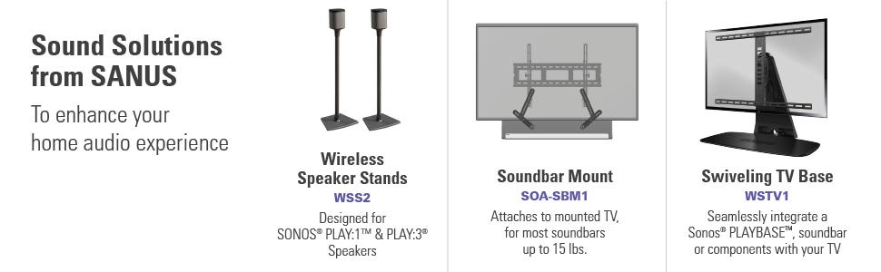 Amazon Com Sanus Wireless Speaker Wall Mounts For Sonos