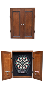 Amazon Com Outlaw Freestanding Dartboard And Cabinet Set Cherry Finish Free