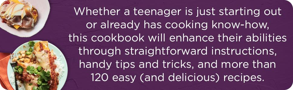 cookbook for teens,teenager cookbook,teenager cooking,teen cookbook,teen recipe book