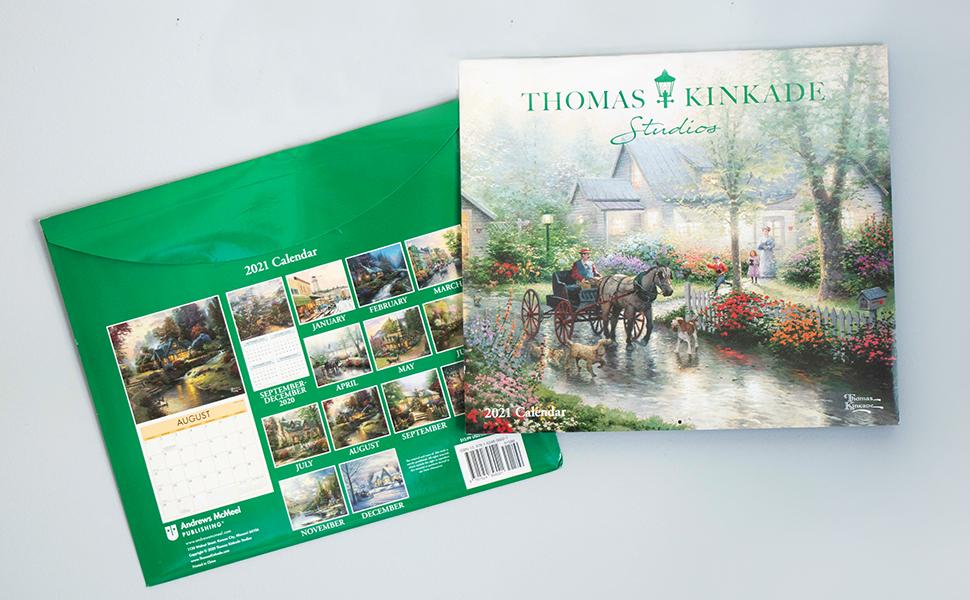 Images of Thomas Kinkade Desk Calendar 2021