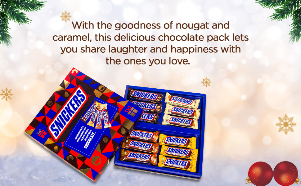 snickers  premium chocolate gift pack / box