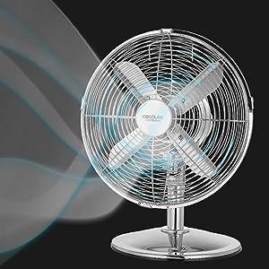 Cecotec Ventilador de Sobremesa EnergySilence 580 RetroDesk. 4 ...