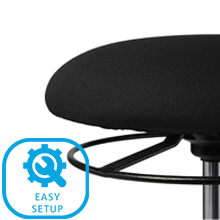 Seville Classics Office Home Stool Chair Easy Setup Frustration Free single box