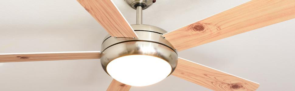 aireryder deckenventilator ursa mit beleuchtung und fernbedienung geh use satin nickel. Black Bedroom Furniture Sets. Home Design Ideas