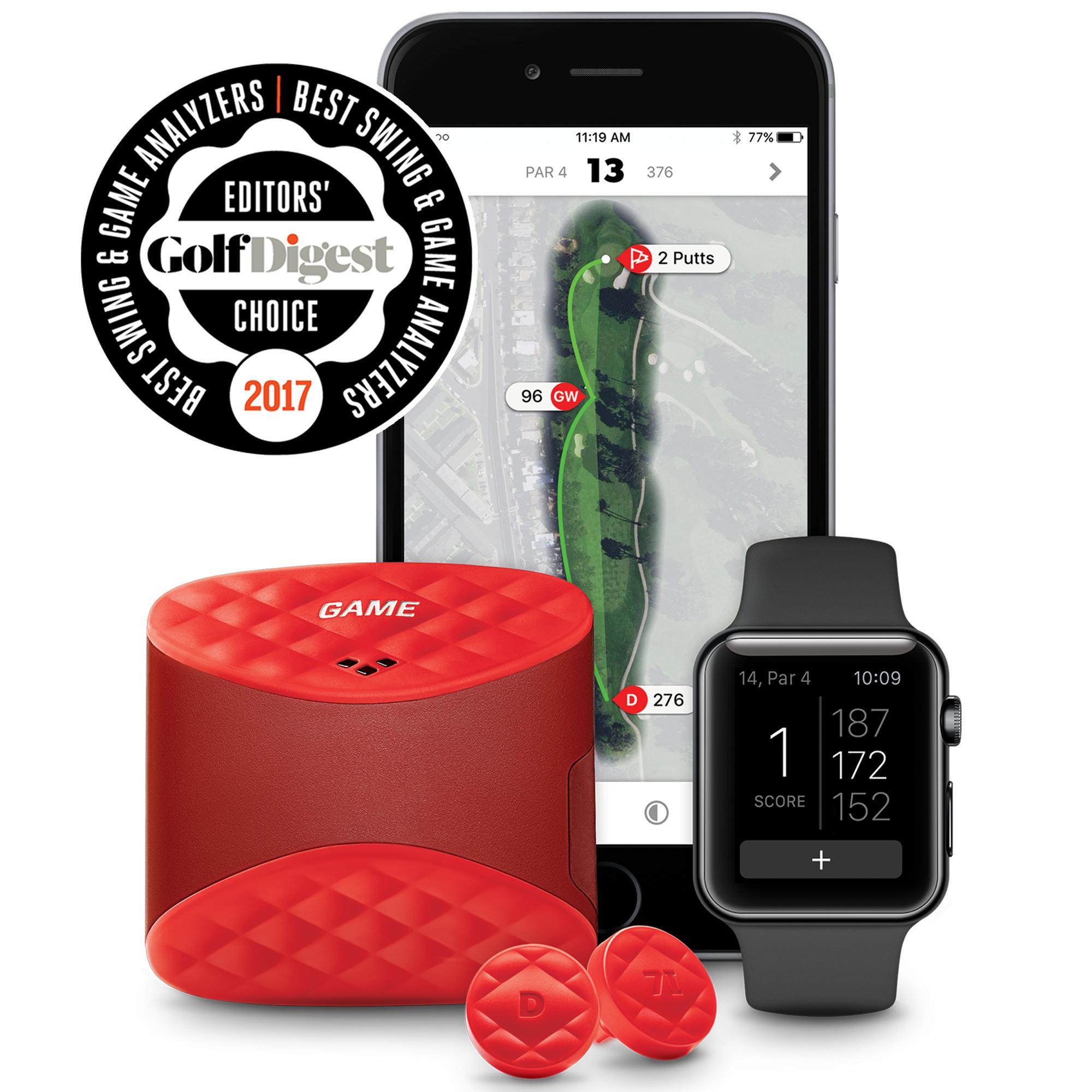game golf live gps enabled range finder w nfc tags red. Black Bedroom Furniture Sets. Home Design Ideas