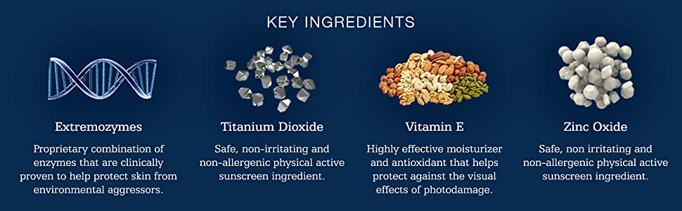 skincare, ingredients, pharmaceutical grade, extremozymes, vitamin e, protection, sunscreen