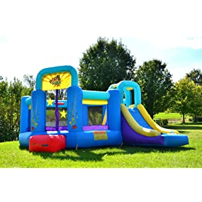 bounceland pop star bounce house with slide - Inflatable Bounce House