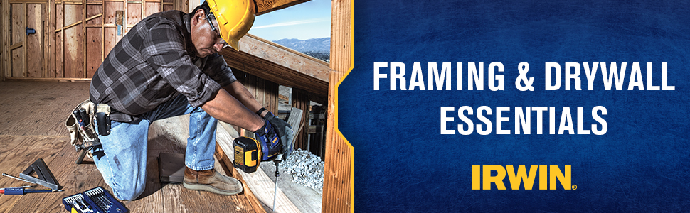 IRWIN drywall and framing tools