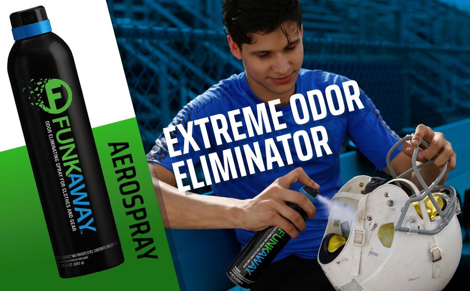 funkaway; funk away; spray; odor eliminator; clean; fresh; not stinky; sport gear; yoga mat; cleaner