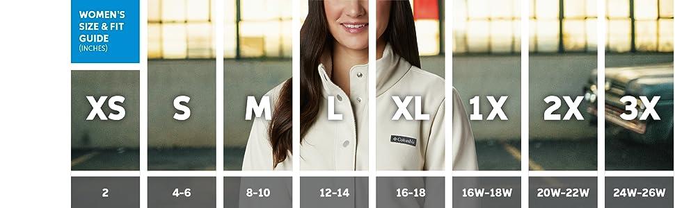 Women's jacket sizing