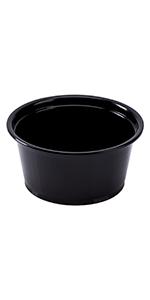 Karat  2 oz Black PP Portion Cups
