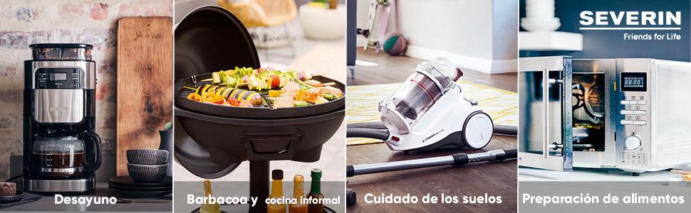 Severin Barbacoa Grill PG 8518 - Barbacoa de Mesa, Superficie de ...