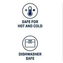 hot or cold beverages, dishwasher safe