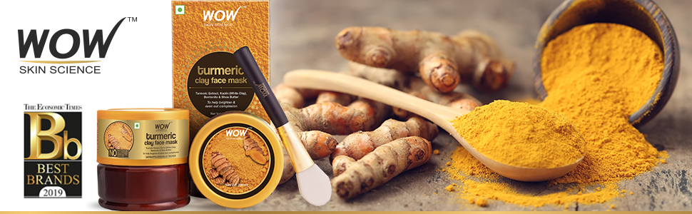 WOW SKIN SCIENCE TURMERIC CLAY FACE MASK