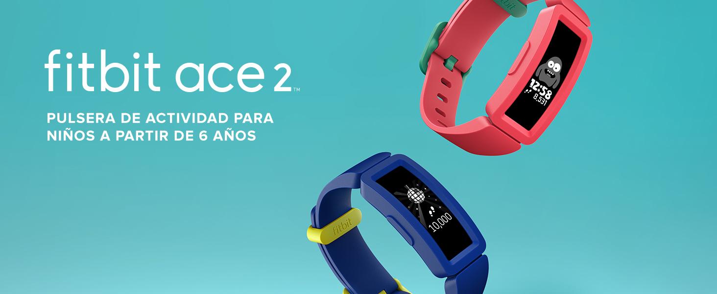 4aa827d1e95f Fitbit Ace 2-Monitores, Pulsera de Actividad para niños con Divertidos  incentivos, 4 días de batería y Sumergible hasta 50 Metros, Juventud  Unisex, ...
