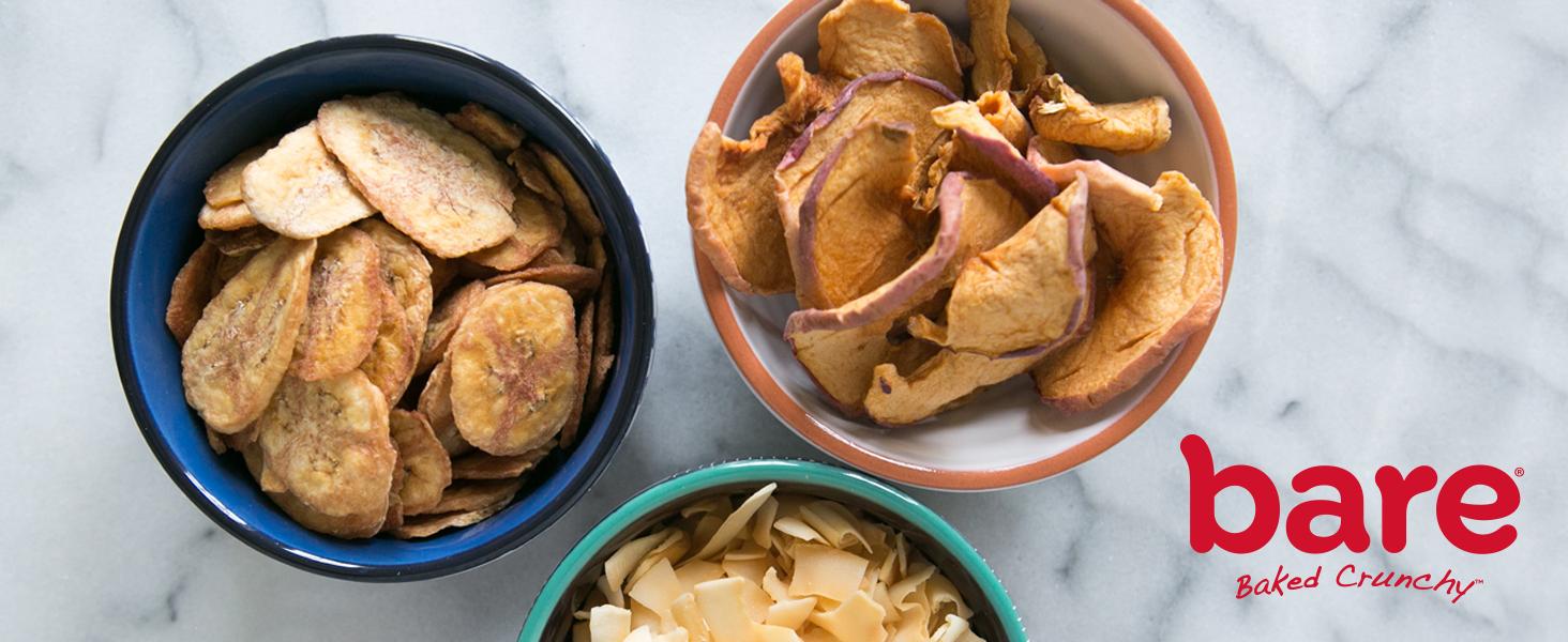 bare snacks apple banana coconut chips